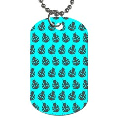 Ladybug Vector Geometric Tile Pattern Dog Tag (two Sides)