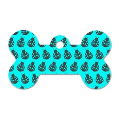 Ladybug Vector Geometric Tile Pattern Dog Tag Bone (two Sides) by creativemom