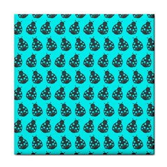 Ladybug Vector Geometric Tile Pattern Face Towel by creativemom