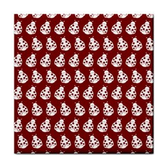 Ladybug Vector Geometric Tile Pattern Tile Coasters by creativemom