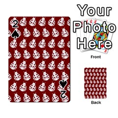 Ladybug Vector Geometric Tile Pattern Playing Cards 54 Designs  by creativemom