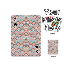 Trendy Chic Modern Chevron Pattern Playing Cards 54 (mini)  by creativemom