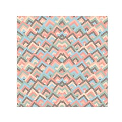 Trendy Chic Modern Chevron Pattern Small Satin Scarf (square)