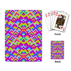Colorful Trendy Chic Modern Chevron Pattern Playing Card by creativemom
