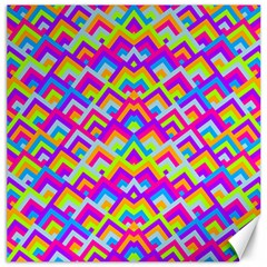 Colorful Trendy Chic Modern Chevron Pattern Canvas 20  X 20   by creativemom