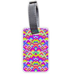 Colorful Trendy Chic Modern Chevron Pattern Luggage Tags (two Sides) by creativemom