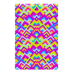 Colorful Trendy Chic Modern Chevron Pattern Shower Curtain 48  X 72  (small)