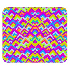 Colorful Trendy Chic Modern Chevron Pattern Double Sided Flano Blanket (small)
