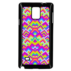 Colorful Trendy Chic Modern Chevron Pattern Samsung Galaxy Note 4 Case (black)
