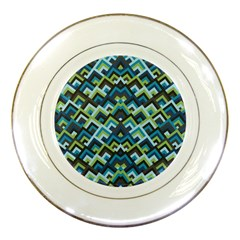Trendy Chic Modern Chevron Pattern Porcelain Plates by creativemom