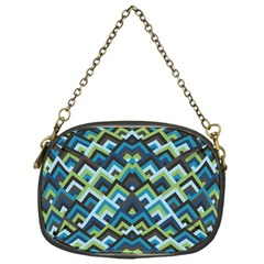 Trendy Chic Modern Chevron Pattern Chain Purses (one Side)  by creativemom