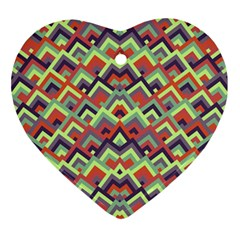 Trendy Chic Modern Chevron Pattern Ornament (heart)  by creativemom