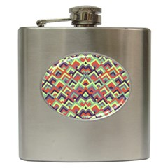 Trendy Chic Modern Chevron Pattern Hip Flask (6 Oz) by creativemom