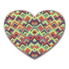 Trendy Chic Modern Chevron Pattern Heart Mousepads by creativemom
