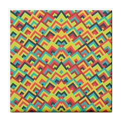 Trendy Chic Modern Chevron Pattern Tile Coasters