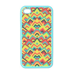 Trendy Chic Modern Chevron Pattern Apple Iphone 4 Case (color) by creativemom