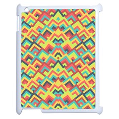 Trendy Chic Modern Chevron Pattern Apple Ipad 2 Case (white) by creativemom