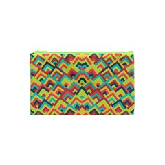 Trendy Chic Modern Chevron Pattern Cosmetic Bag (xs) by creativemom