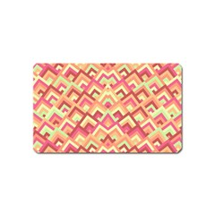 Trendy Chic Modern Chevron Pattern Magnet (name Card) by creativemom