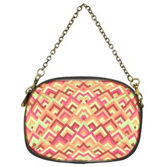 Trendy Chic Modern Chevron Pattern Chain Purses (one Side)