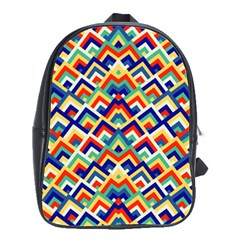 Trendy Chic Modern Chevron Pattern School Bags(large)  by creativemom