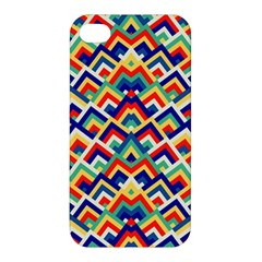 Trendy Chic Modern Chevron Pattern Apple Iphone 4/4s Premium Hardshell Case by creativemom