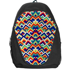Trendy Chic Modern Chevron Pattern Backpack Bag by creativemom