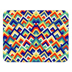 Trendy Chic Modern Chevron Pattern Double Sided Flano Blanket (large)