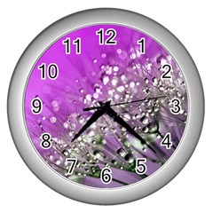 Dandelion 2015 0707 Wall Clocks (silver)  by JAMFoto