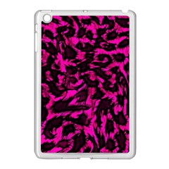 Extreme Pink Cheetah Abstract  Apple Ipad Mini Case (white)