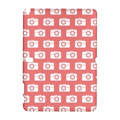 Modern Chic Vector Camera Illustration Pattern Samsung Galaxy Note 10 1 (p600) Hardshell Case by creativemom