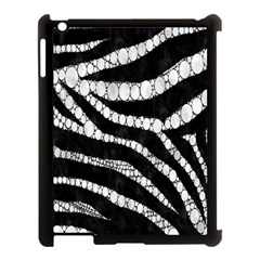 Zebra Print Bling Pattern  Apple Ipad 3/4 Case (black) by OCDesignss
