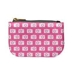 Pink Modern Chic Vector Camera Illustration Pattern Mini Coin Purses by creativemom