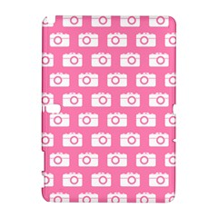 Pink Modern Chic Vector Camera Illustration Pattern Samsung Galaxy Note 10 1 (p600) Hardshell Case by creativemom