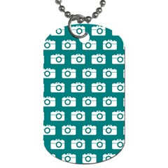 Modern Chic Vector Camera Illustration Pattern Dog Tag (one Side)