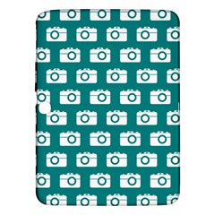 Modern Chic Vector Camera Illustration Pattern Samsung Galaxy Tab 3 (10 1 ) P5200 Hardshell Case  by creativemom