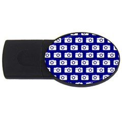 Modern Chic Vector Camera Illustration Pattern Usb Flash Drive Oval (2 Gb)  by creativemom