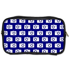 Modern Chic Vector Camera Illustration Pattern Toiletries Bags by creativemom