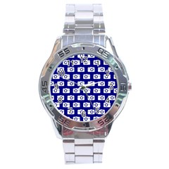 Modern Chic Vector Camera Illustration Pattern Stainless Steel Men s Watch