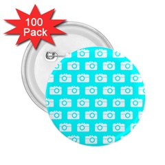 Modern Chic Vector Camera Illustration Pattern 2 25  Buttons (100 Pack)
