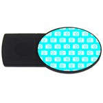 Modern Chic Vector Camera Illustration Pattern USB Flash Drive Oval (2 GB)  Front