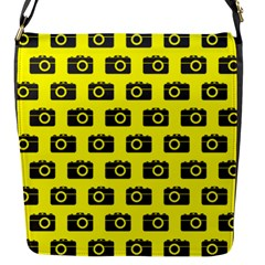 Modern Chic Vector Camera Illustration Pattern Flap Messenger Bag (s) by creativemom