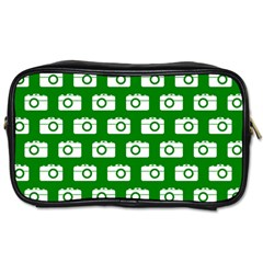 Modern Chic Vector Camera Illustration Pattern Toiletries Bags 2 Side by creativemom