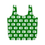 Modern Chic Vector Camera Illustration Pattern Full Print Recycle Bags (M)  Back