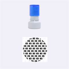 Modern Chic Vector Camera Illustration Pattern Rubber Round Stamps (small) by creativemom