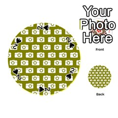 Modern Chic Vector Camera Illustration Pattern Playing Cards 54 (round)  by creativemom
