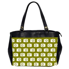 Modern Chic Vector Camera Illustration Pattern Office Handbags (2 Sides)  by creativemom