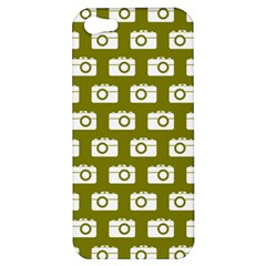 Modern Chic Vector Camera Illustration Pattern Apple Iphone 5 Hardshell Case by creativemom