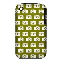 Modern Chic Vector Camera Illustration Pattern Apple Iphone 3g/3gs Hardshell Case (pc+silicone) by creativemom