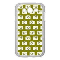 Modern Chic Vector Camera Illustration Pattern Samsung Galaxy Grand Duos I9082 Case (white) by creativemom